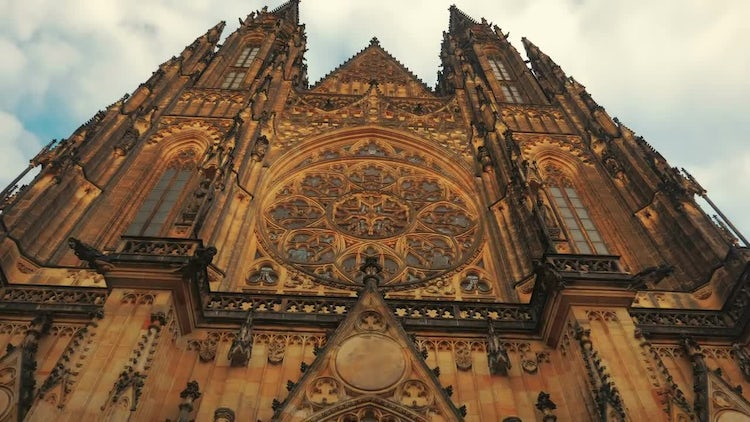 St Vitus Cathedral In Prague: Stock Video
