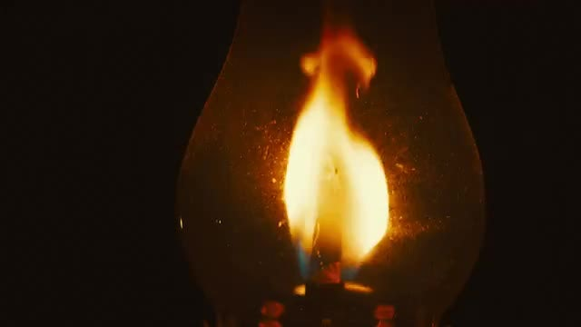 Flickering Traditional Oil Lantern : Stock Video