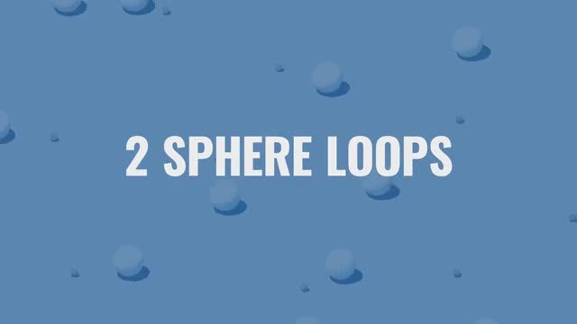 Two Spheres Loops Pack: Stock Motion Graphics