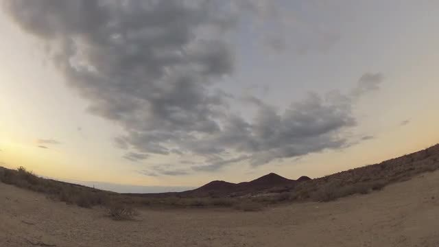 Desert Time Lapse Fish Eye: Stock Video