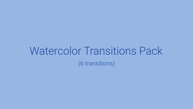 Watercolor Transitions Pack: Stock Motion Graphics