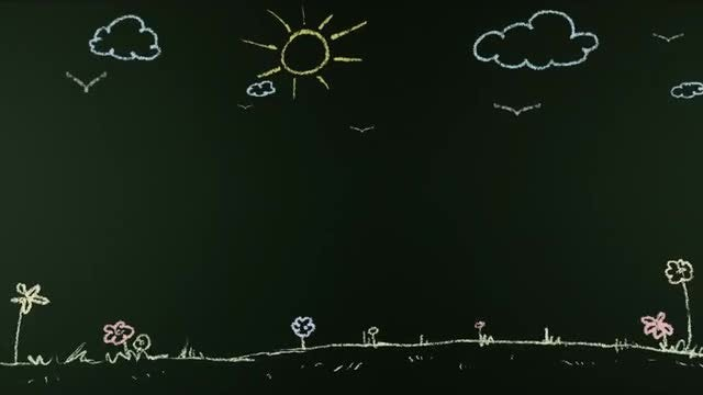 Summer Animated Chalk Board: Stock Motion Graphics