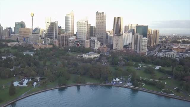 Aerial View Of Sydney City: Stock Video