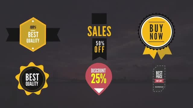 8 Animated Sales Badges: After Effects Templates