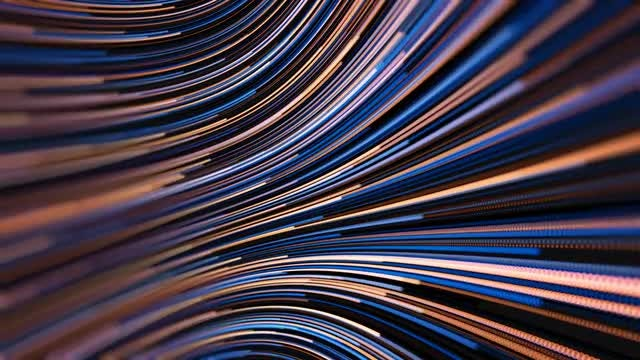 Colorful  Curved Lines Path Background: Stock Motion Graphics