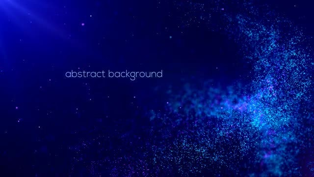 Abstract Blue Particles Background: Stock Motion Graphics