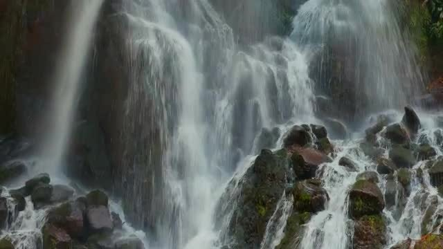 Closeup Of Beautiful Waterfall: Stock Video