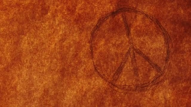 Paper With Peace Symbol Burning: Stock Video