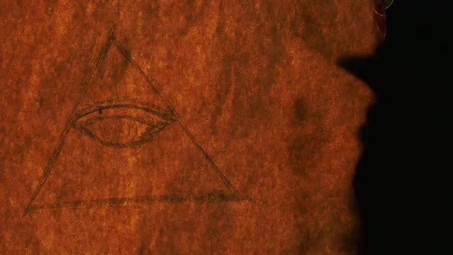 Paper With Eye Of Providence: Stock Video