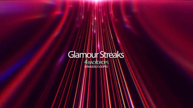 Red Light Streaks: Stock Motion Graphics
