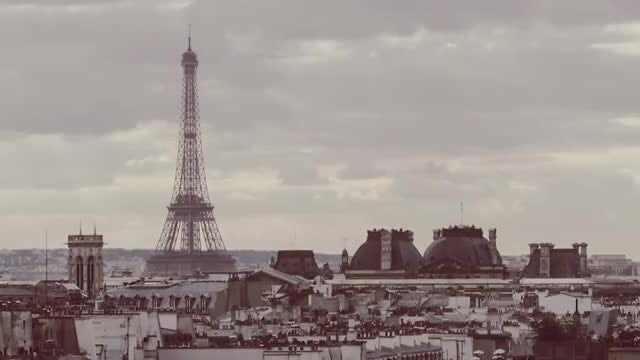 Sepia Time-Lapse Of Paris : Stock Video