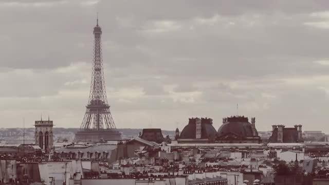 Sepia Time-Lapse Of Paris : Stock Video