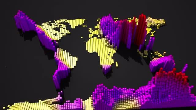 Abstract Earth Continents: Stock Motion Graphics