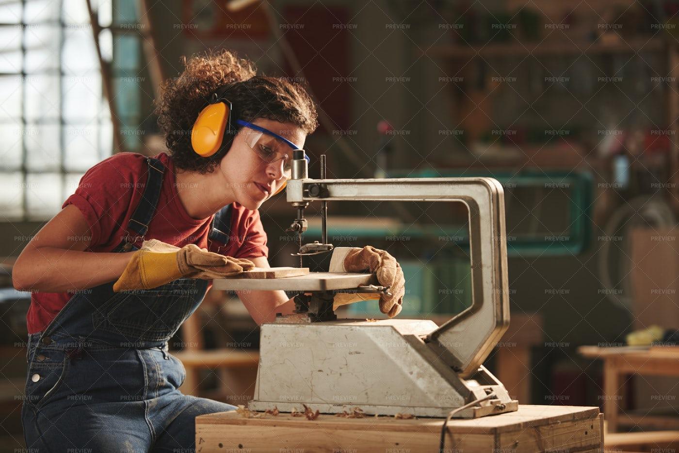 Professional Carpenter At Work: Stock Photos