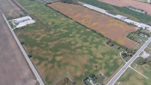 Aerial Shot Of Farm Fields : Stock Video