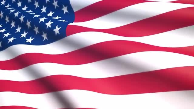 Billowing United States Flag: Stock Motion Graphics