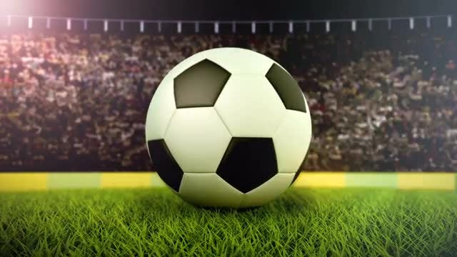 Flashing Lights On Soccer Ball: Stock Motion Graphics