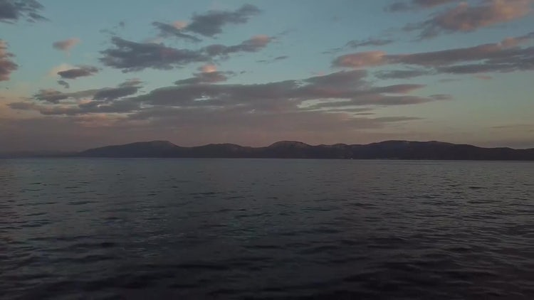 Wide Angle Shot Of Ocean: Stock Video