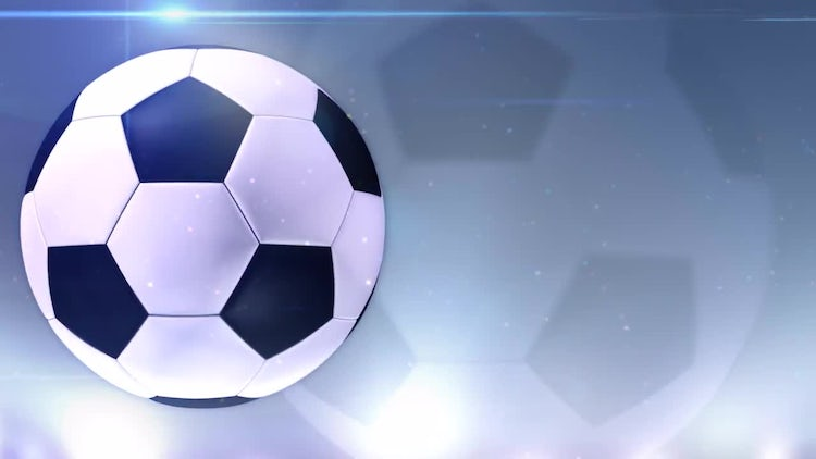Blue Soccer Ball Background: Stock Motion Graphics