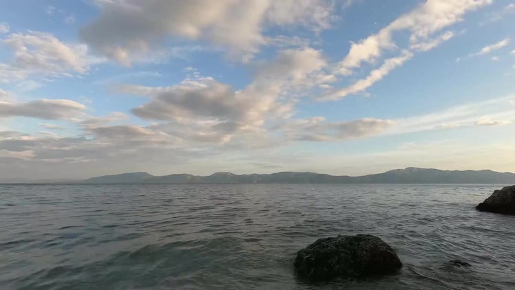Time Lapse Of Calm Ocean: Stock Video