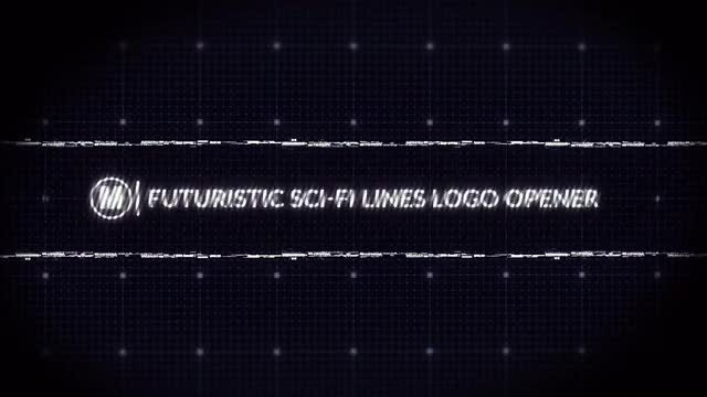 Futuristic Sci-fi Lines Logo Opener: After Effects Templates