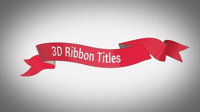 3D Ribbon Titles: After Effects Templates