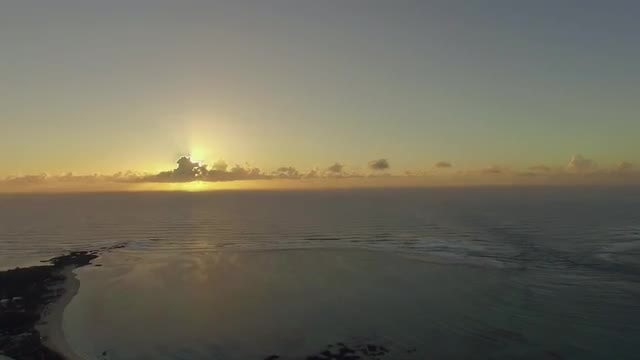 Mauritius Coastline At Sunset: Stock Video