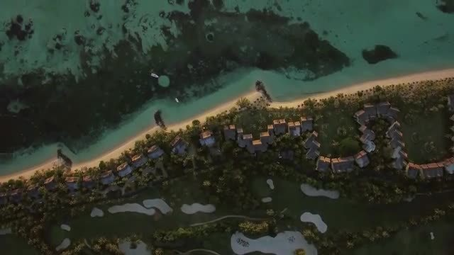 Tropical Island With Residential Houses: Stock Video