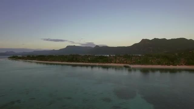 Wide-angle Shot Mauritius Island: Stock Video