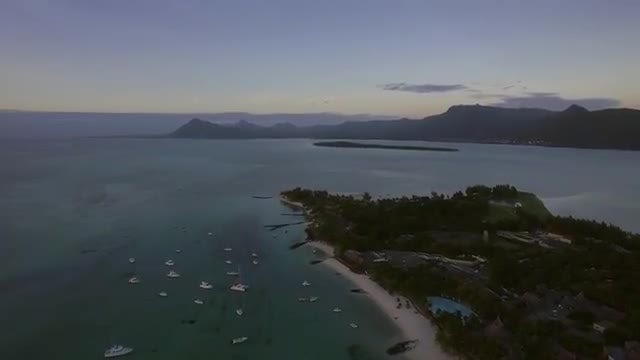 Aerial View Of Mauritius Island : Stock Video