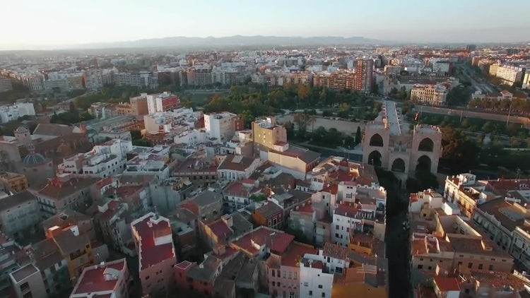 Aerial View of Valencia: Stock Video