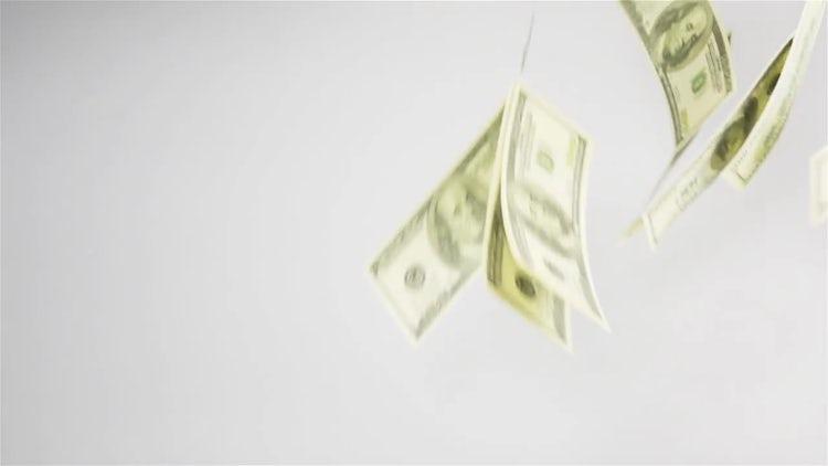 Dollars Falling Through The Air : Stock Video