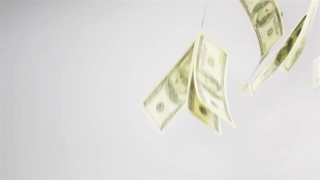 Dollars Falling Through The Air : Stock Video
