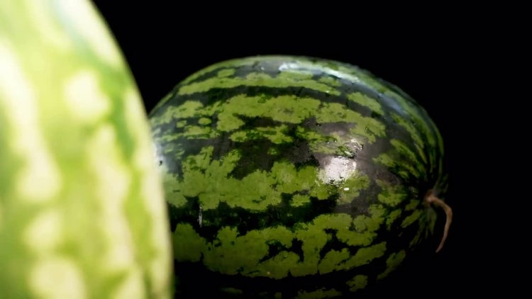 Two Watermelons Rotating: Stock Video
