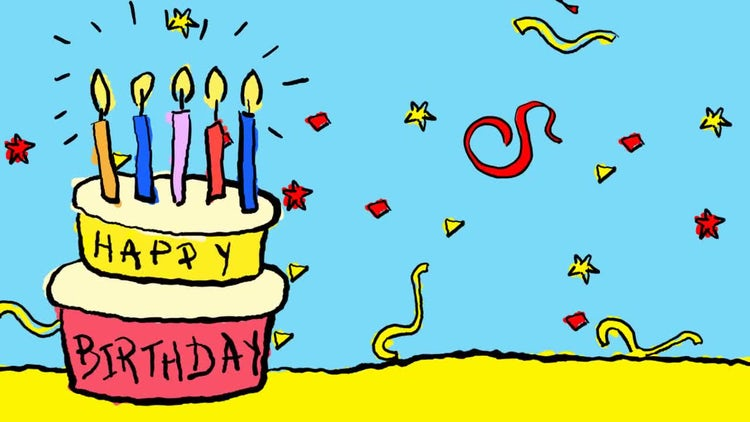 Happy Birthday Animated Background: Stock Motion Graphics