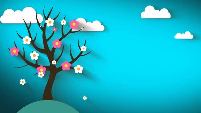 Fall Flowering Animated: Stock Motion Graphics