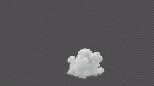Small Smoke Blast: Stock Motion Graphics