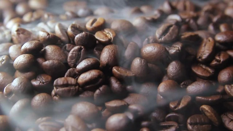 Brown Coffee Beans Being Roasted: Stock Video