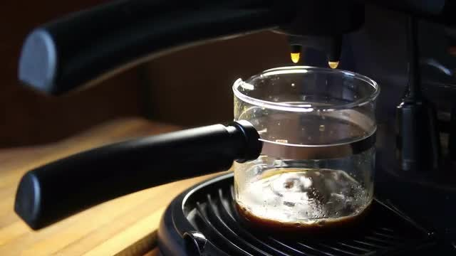 Drops Of Black Coffee Dripping: Stock Video