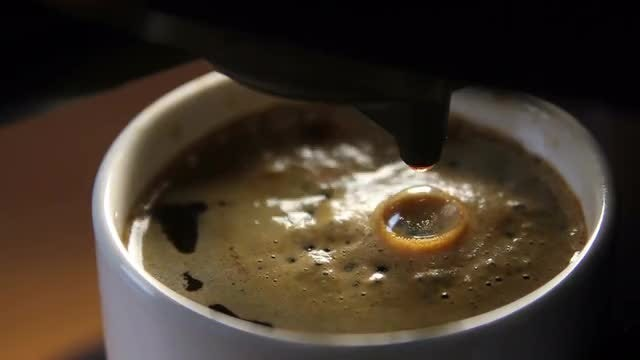 Freshly Brewed Black Coffee: Stock Video