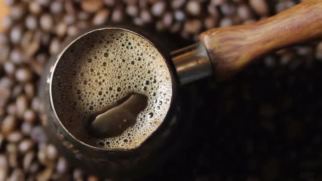 Black Coffee Brewing : Stock Video
