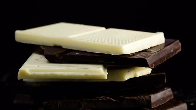 Dark And White Chocolate Rotating: Stock Video