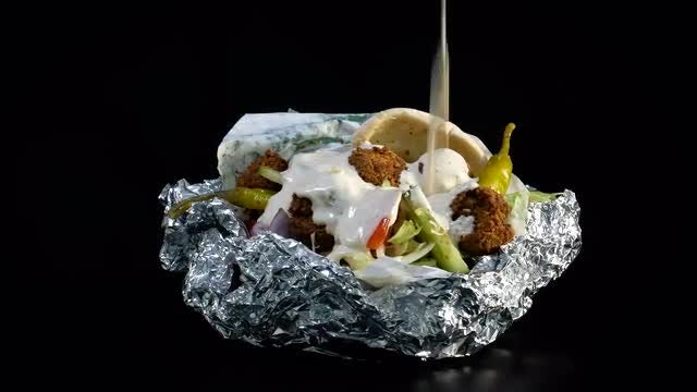 Rotating Falafel: Stock Video