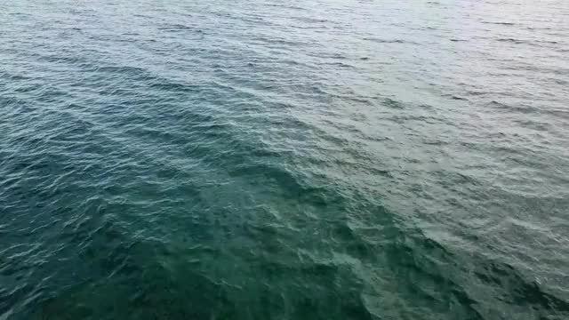 Aerial Shot Of Calm Ocean: Stock Video