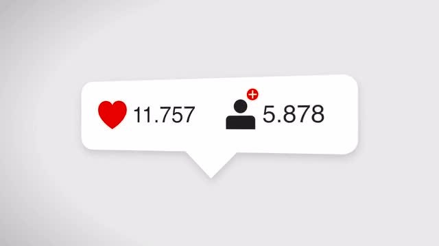Likes And Followers Counter: Stock Motion Graphics