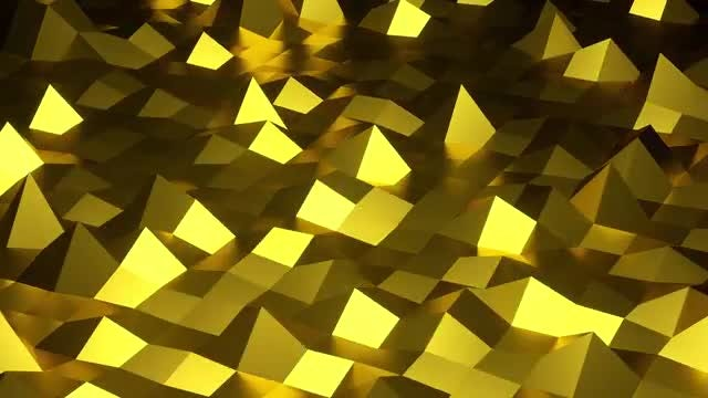 Low Poly Gold Background: Stock Motion Graphics
