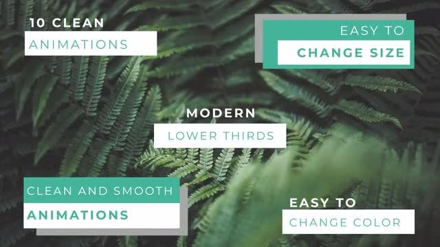 Modern Lower Thirds: After Effects Templates