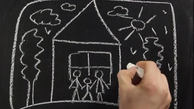 Chalkboard Family: Stock Video