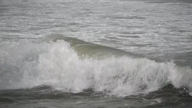 Waves In A Stormy Sea: Stock Video