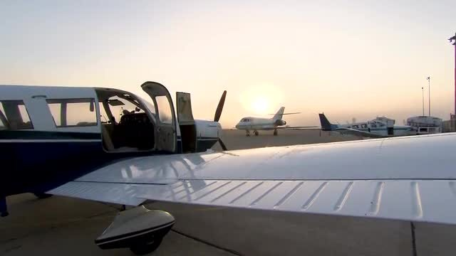 Small Aircraft At The Airport: Stock Video